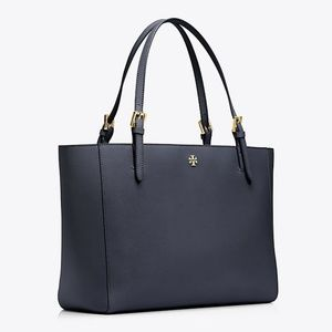 Tory Burch York Buckle Tote Bag Purse Blue